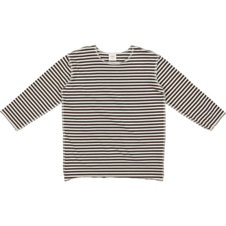 Black Thin Striped Crew Tee