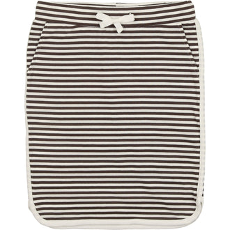 Black Thin Stripe Dophin Skirt