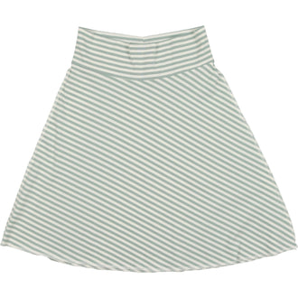 Slate Blue Thin Stripe Flare Skirt
