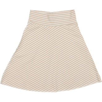 Taupe Thin Stripe Flare Skirt