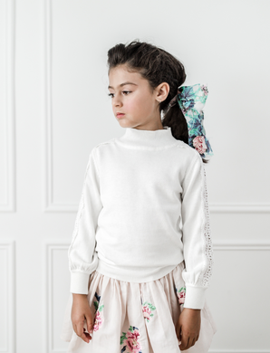 Ivory Lace Trim Sweater