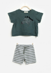 Zebra Shorts Set