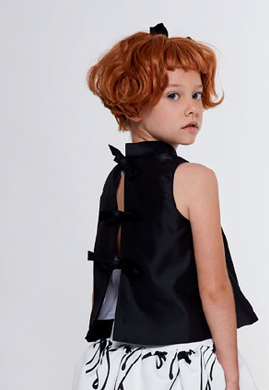 Black Blouse with Bows
