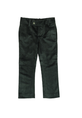 Green Velvet Slim Pants