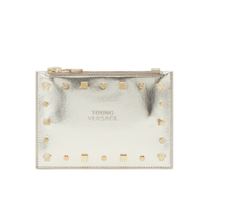 Gold Stud Logo Purse