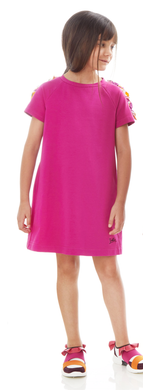 Fuchsia Ruffle Sleeve Dress