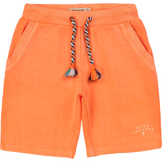 Orange French Terry Shorts