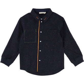 Indigo Blue Button Up Shirt