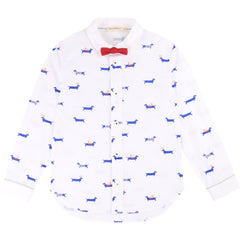 White/Navy Button Up Shirt