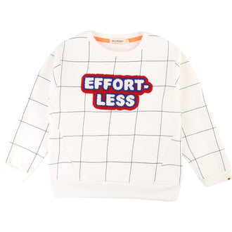 "White Checkered ""Effortless"" Sweatshirt"