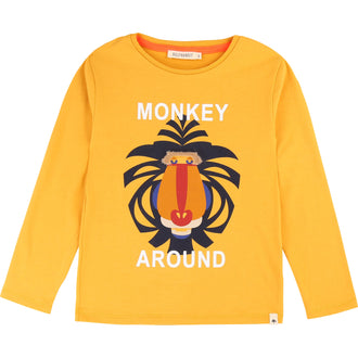 Mustard Monkey Graphic Tee