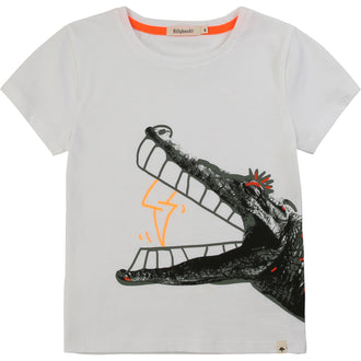 White Alligator Tee