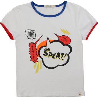White Cartoon Bubble Tee