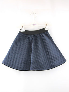 Blue Velvet Dot Skirt