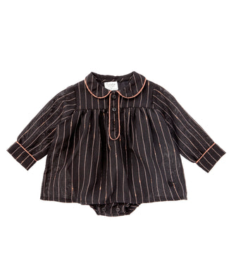 Black Striped Lurex Dress