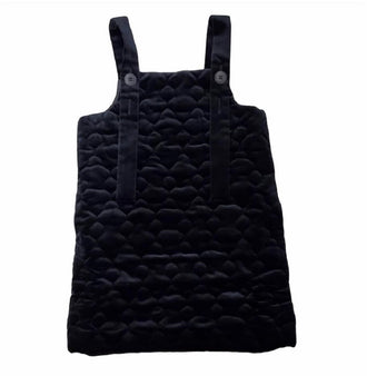 Nova Black Quilted Pinafore Jumper