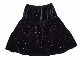 Black Rhinestone Skirt