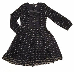 Black Velvet Hearts Dress