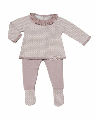 Alba Powder Pink Knit Outfit