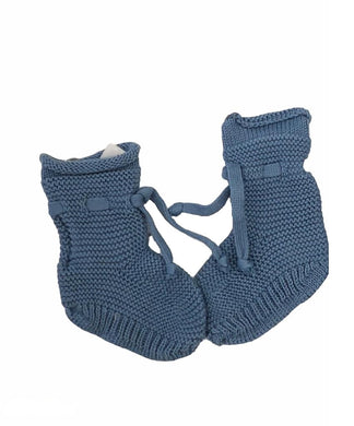 Blue Ribbed Booties