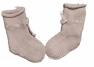 Pink Knit Booties
