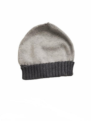 Grey Ribbed Hat