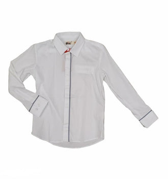 White with Grey Accenting Shirt