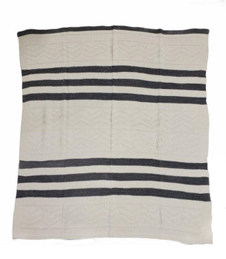 Grey Striped Shimmer Blanket