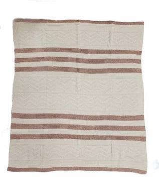 Blush Striped Shimmer Blanket