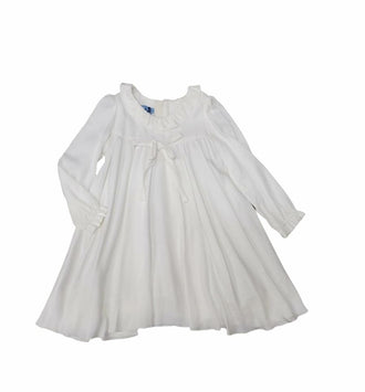 Cream Baby Dress with Bow Detail