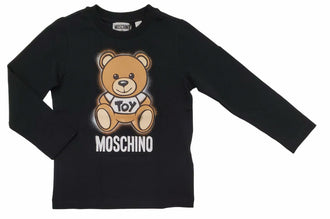 Black Large Bear Print Tee