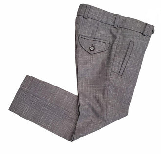 Grey Tweed Linen Pant