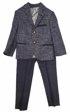 Navy Tweed Blazer with Pant