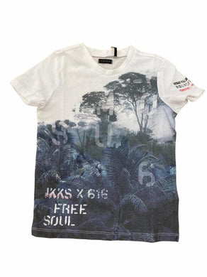 Army White Forest Print Tee