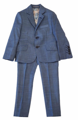 Medium Blue Check Suit