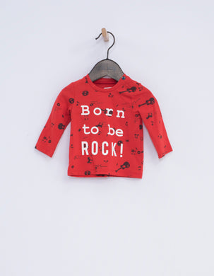 Rock Red 'Born To Rock' Tee
