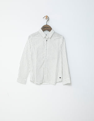 Rock White Printed Shirt