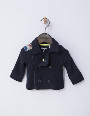 Island Navy Double Breasted Jacket