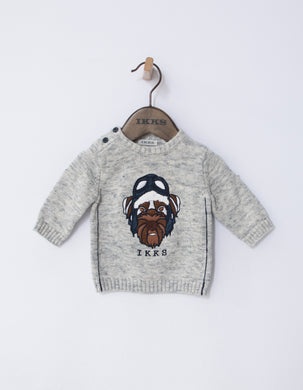 Island Grey Dog Sweatshirt