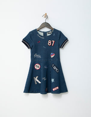 Dolce Denim Patches Dress