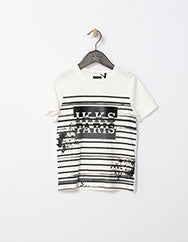 Paris White 'Ikks Paris' Striped Tee