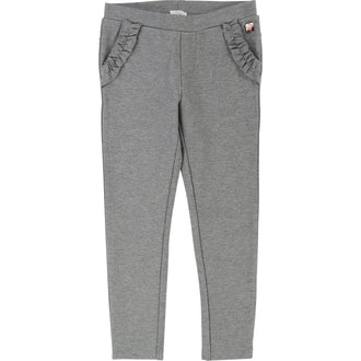 Grey Milano Pants w/Ruffle