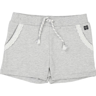 Grey Embroidered Terry Shorts