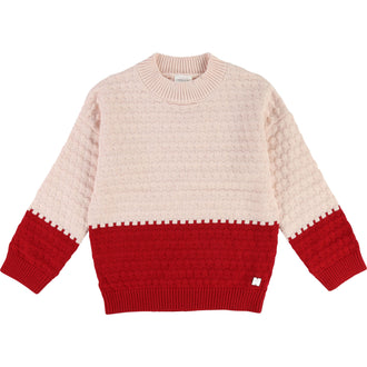 Pink/Red Colorblock Sweater