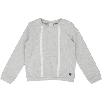 Grey Embroidered Terry Sweatshirt