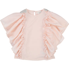 Lt Pink Fancy Flowy Sleeves Tee