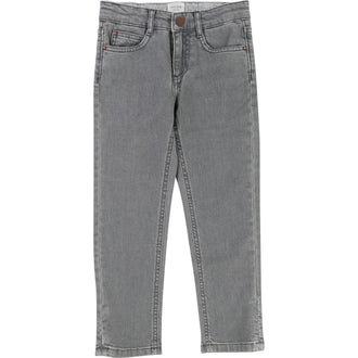 Straight Fit Denim Grey Pants