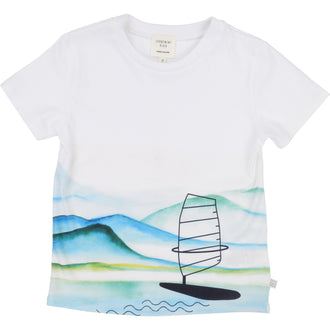 White Sailboat Tee