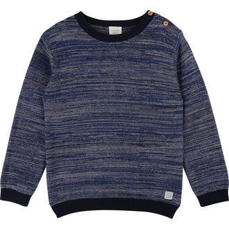 Navy Pattern Sweater