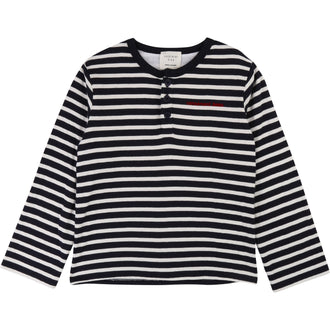 Navy Striped Henley